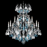 Renaissance Rock Crystal 16 Light Chandelier