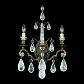 "Versailles Rock Crystal 21.5"" Two Light Wall Sconce"