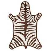 Zebra Brown/Natural Rug