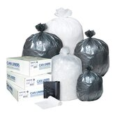 16 Gallon High Density Can Liner, 6 Micron in Black, 50/Roll