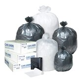 60 Gallon High Density Can Liner, 12 Micron in Clear, 25/Roll