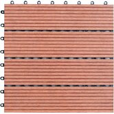 Four Piece Composite Bamboo Deck Tile