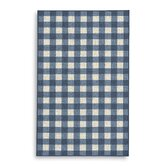French Check Blue Check Rug
