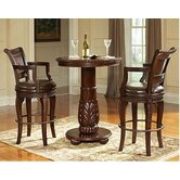Antoinette 3 Piece Pub Table Set in Multi-Step Rich Cherry