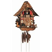 "14"" Chalet Cuckoo Clock with Moving Woodchopper, Water Wheel and Dancing Children"