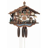 "17"" Bavarian Chalet with Beer Drinkers, Dancing Couple and Water Wheel"