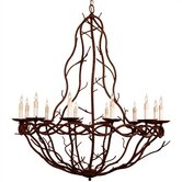 Durango 12 Light Iron Chandelier