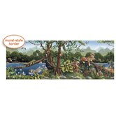 Whimisical Wall Jungle Mural Style Border in Multi