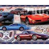 History of the Corvette Free Style Border Wallpaper in Multi