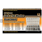Black Bull 350 Piece Lock and Flat Washer Assortment Set