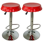 AmeriHome Soda Cap Bar Stool (Set of 2)