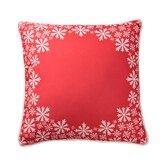 Snowflake Border Pillow