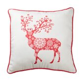 Reindeer Snowflake Pillow