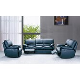 Three Piece Reco Leather Sofa Set
