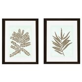 Leaves Silhoutte Framed Wall Art (Set of 2)