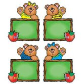Chalkboard Bears Cut-outs - Assorted