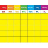 Colorful Calendar Laminated