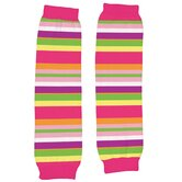Organic Print Legwarmers in Bright Stripes