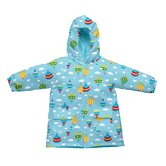 Lightweight Raincoat in Aqua Balloons