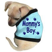 Mommy's Boy Dog Tank in Blue