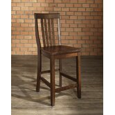 School House 24&quot; Barstool in Vintage Mahogany