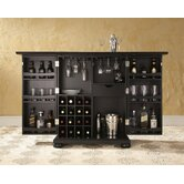 Alexandria Expandable Bar Cabinet in Black