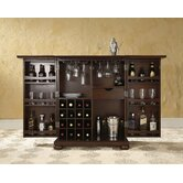 Alexandria Expandable Bar Cabinet in Vintage Mahogany