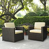 Palm Harbor 2 Piece Deep Seating Group with Cushions