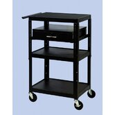 "26"" - 42"" Adjustable Equipment Cart"