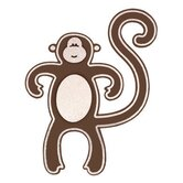 Small Monkey in Brown / White (No Glitter)