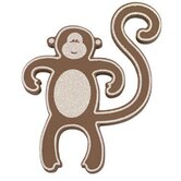 Mini Monkey in Brown / White (No Glitter)
