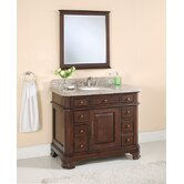 42&quot; Single Bathroom Vanity Set in Antique Dark Espresso
