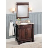 32&quot; Single Bathroom Vanity Set in Dark Brown