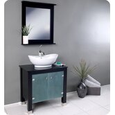 Emotivo Espresso Modern Bathroom Vanity with Mirror