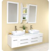 Bellezza Modern Double Vessel Sink Bathroom Vanity