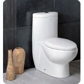 Delphinus One-Piece Dual Flush Toilet with Soft Close Seat
