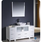 Torino 60&quot; Modern Bathroom Vanity with 2 Side Cabinets and Vessel Sink