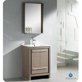 "Allier 24"" Modern Bathroom Vanity with Mirror"