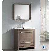 "Allier 30"" Modern Bathroom Vanity with Mirror"