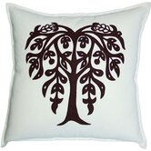Bihar Tree Pillow in Chocolate on White