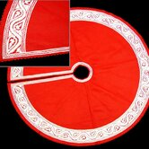 Great Plain Tree Skirt in White and Red