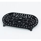 Large Oval Trivet in Black