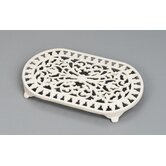 Large Oval Trivet in Champagne