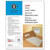 "Mailing Label, Laser, 1""x2-5/8"", 3000 per Pack, White"