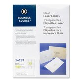 "Mailing Labels, Laser, 1""x2-3/4"", 1500 per Pack, Clear"