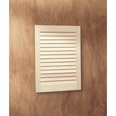 Basic Louver Single Recessed Cabinet with