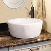 Classically Redefined 16.5&quot; Round Ceramic Vessel Sink with Overflow