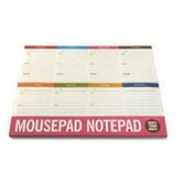 8 Days-A-Week Mouse Pad Note Pad