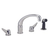 Deluxe Two-Handle Widespread Kitchen Faucet with Side Spray and Hose