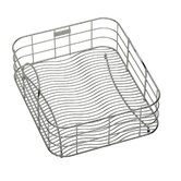 "17"" x 12.5"" Stainless Steel Rinsing Basket with Removable Dish Rack"